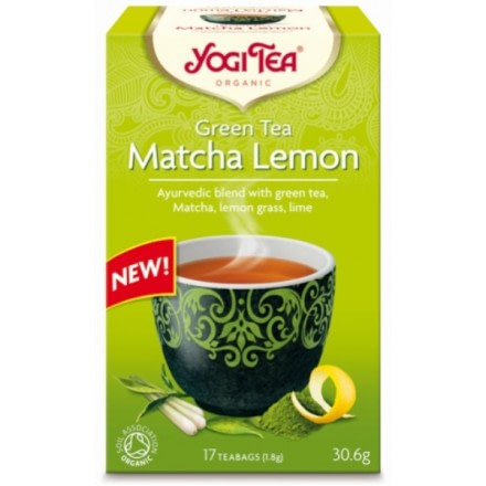 YOGI TEA GREEN MATCHA LEMON ΒΙΟ 306gr