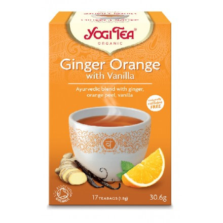 YOGI TEA GINGER ORANGE BΙΟ 306ΓΡ